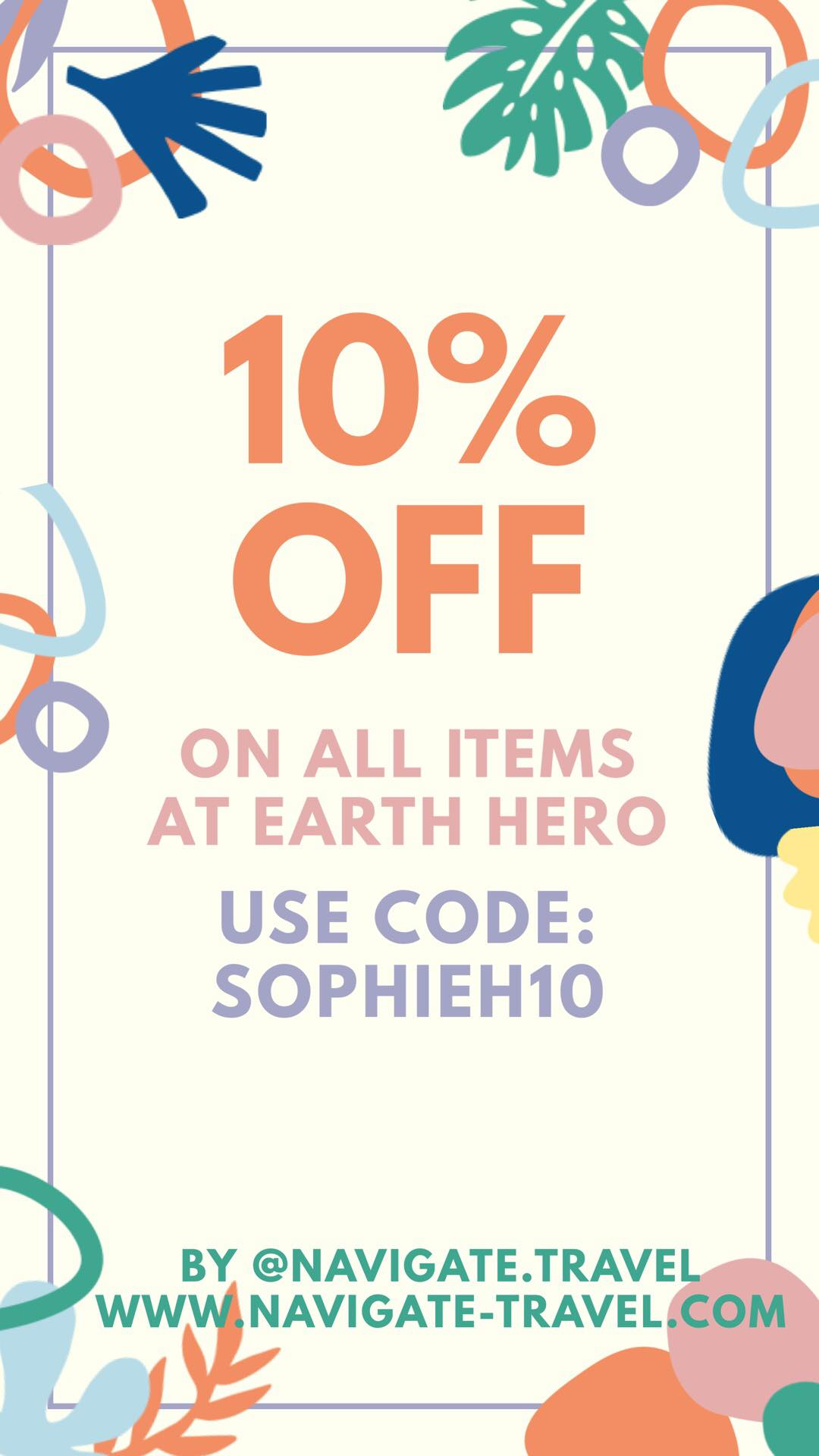 10% off Earth Hero sustainable shops by navigate travel blog